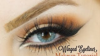 Winged Eyeliner Cat eye Makeup look Makeup by Ani Thumbnail