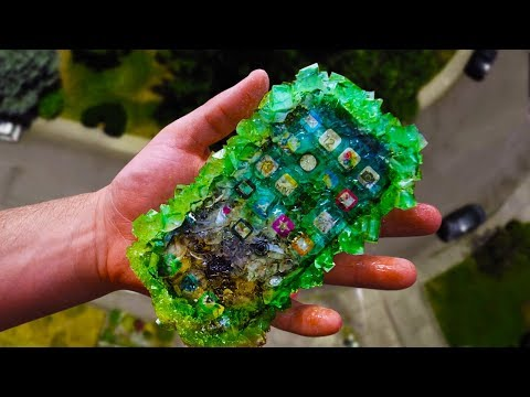iPhone X Sugar Crystal (Rock Candy) 100 FT Drop Test! Will It Survive?