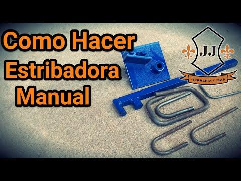 Como Hacer ESTRIBADORA MANUAL 3/8, 5/16, 1/4, 3/16 Y 1/8 CASERA
