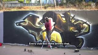AEK Athens Legend Thomas Mavros Immortalised in Graffiti