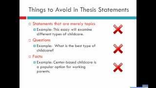 From Topic to Thesis Statement.wmv