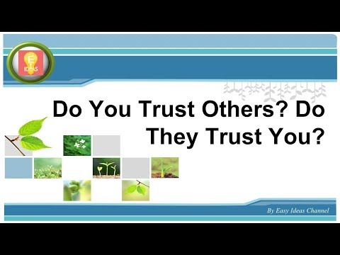Do You Trust Others Do They Trust You - Motivation ideas