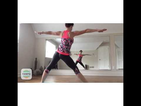 yoga warrior sequence  easy flow at home repeat by yoga