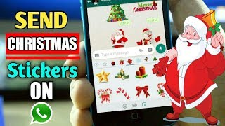 How To Send Christmas Stickers On Whatsapp | Christmas Stickers For Whatsapp | Aditya Knight