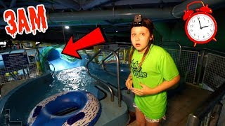 24 HOURS WATERPARK OVERNIGHT CHALLENGE!! WATER SLIDES FUN AT 3AM!!