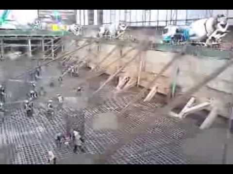 Mass concrete pouring