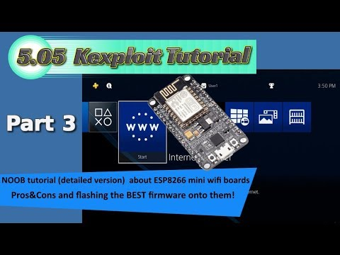 PS4 - noob tutorial - flash the BEST firmware (so far) to your ESP8266 mini wifi board + pros&cons