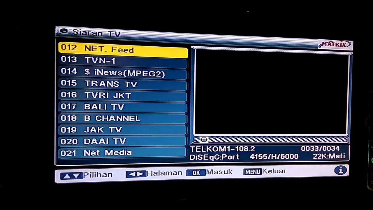 Frekuensi NET tv terbaru 2018