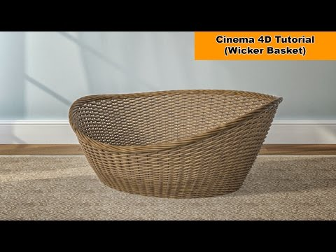 Model a Wicker Basket (Cinema 4D Tutorial)