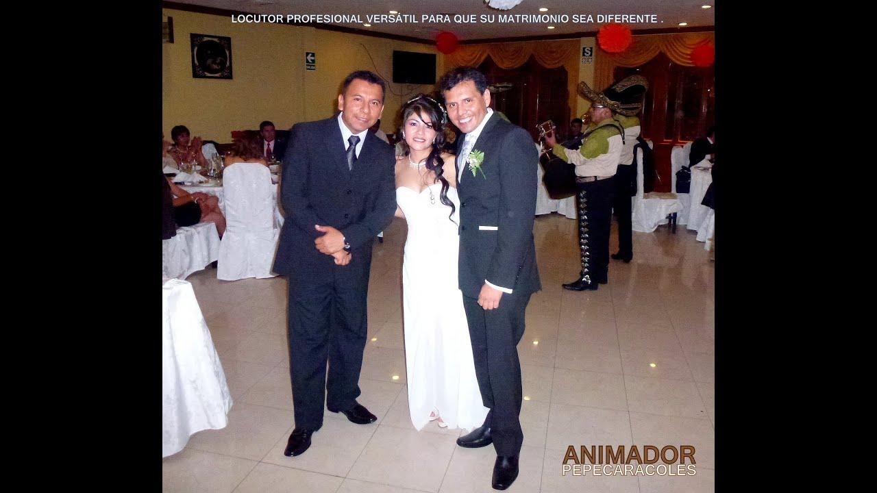 ANIMADOR DE MATRIMONIOS LOCUTOR PROFESIONAL SHOWMAN caracoles eventos ...