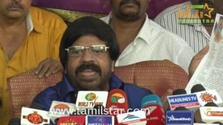 T. Rajendar Press Meet Regards SUN TV Issue