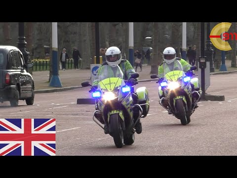 [LONDON] Police motorbikes responding on The Mall with siren and lights