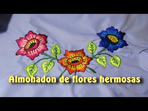 Almohadon de flores hermosas |Creaciones y manualidades angeles