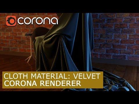 Cloth material: Cotton - Corona Renderer  | 3Ds Max | Tutorials for beginners ARCHVIZ