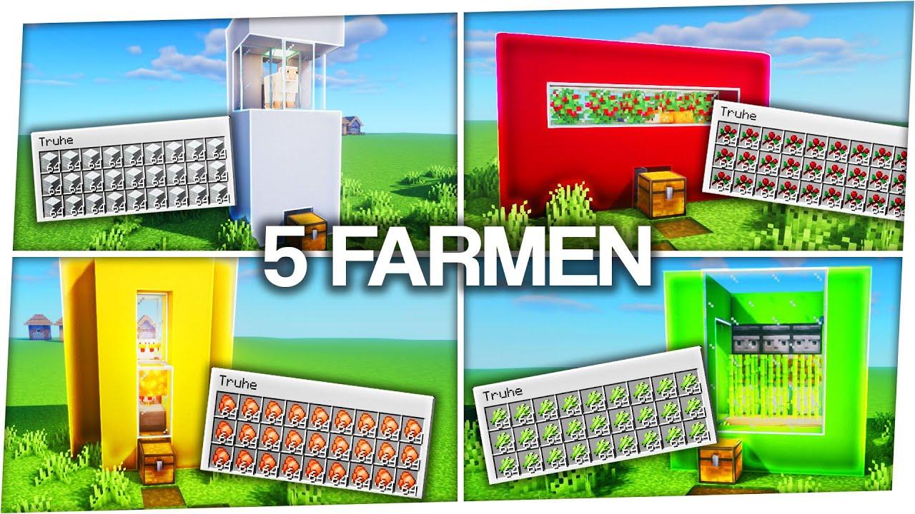 Download 5 automatische Farmen in Minecraft (einfach) 🤯