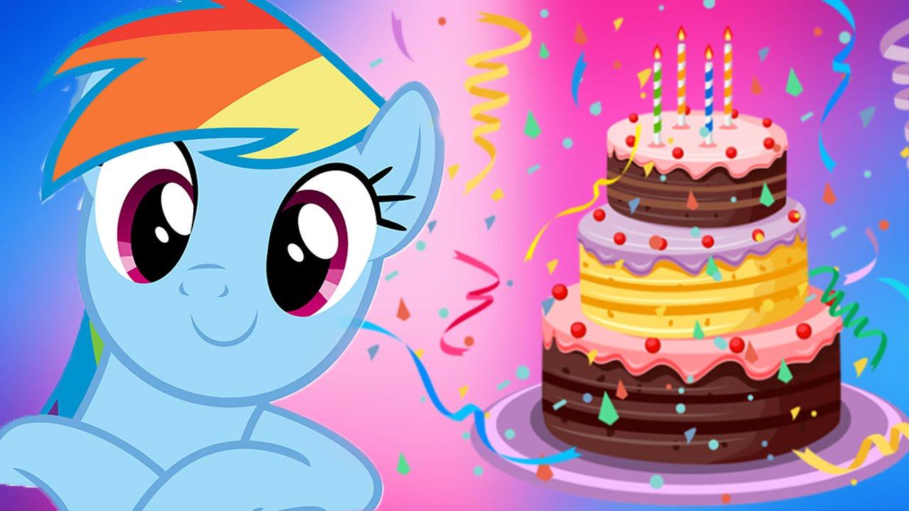Pony Birthday Cake My Little Pony Rainbow Dash Makes Cake