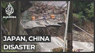China, Japan hit by devastating floods, mudslides
