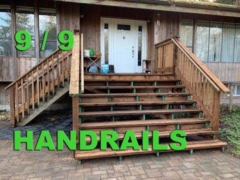 Stairs and Porch Repair  -  Part 9 - Making Handrails with Pressure Treated Wood.