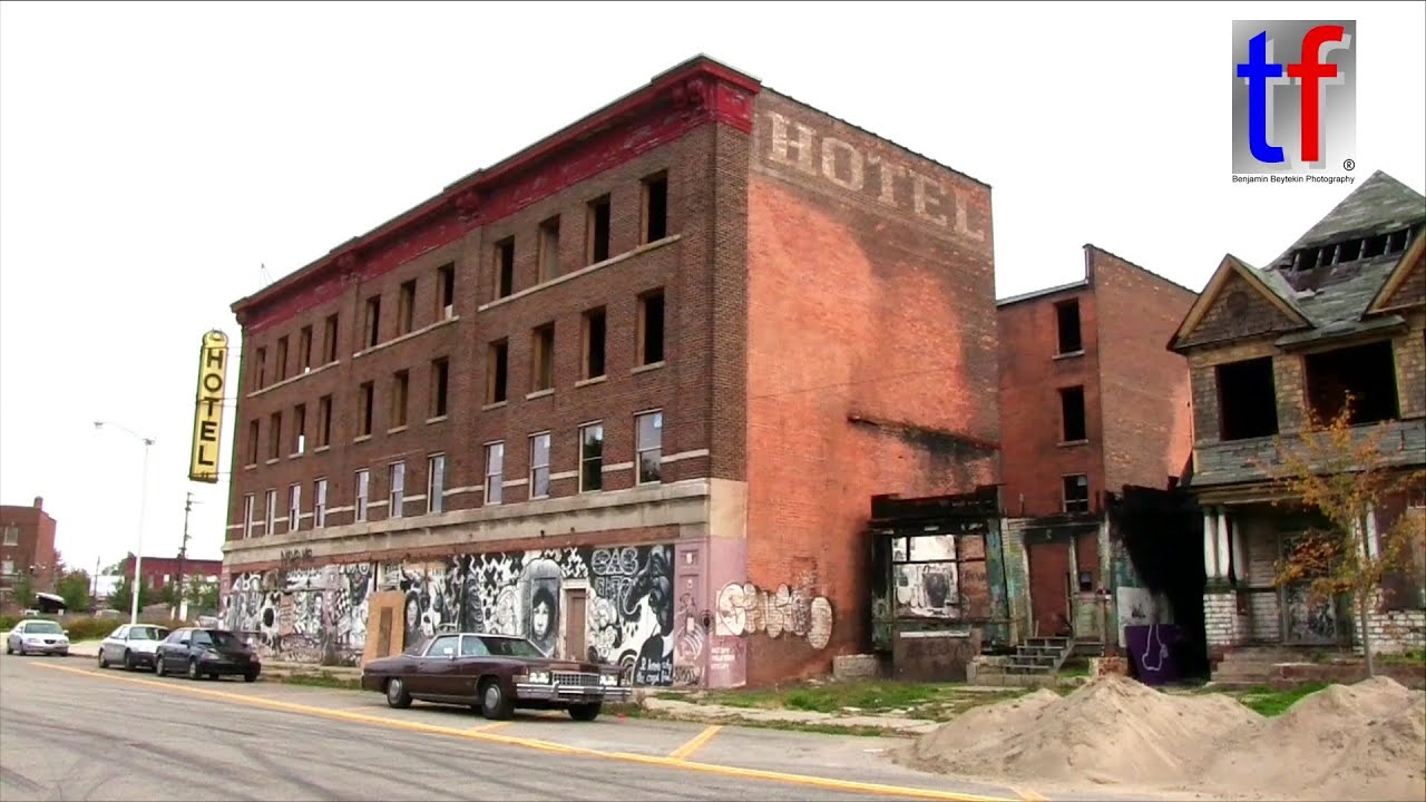 Abandoned Detroit Roosevelt Hotel Burned Dwelling & Part