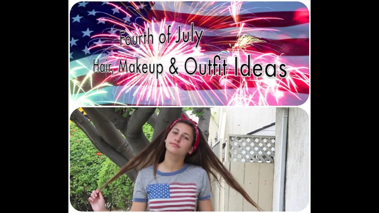 fourth of july hair makeup