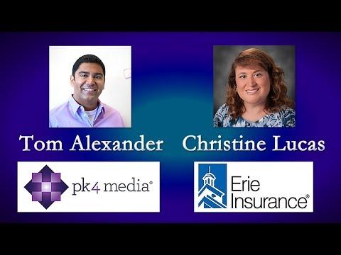 Tom Alexander, PK4 Media. Christine Lucas, Erie Insurance. May 28, 2017