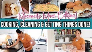 Getting Stuff Done | Easy Crockpot Meals| Cook and Clean with Me | Mennonite Mom's to-do list!