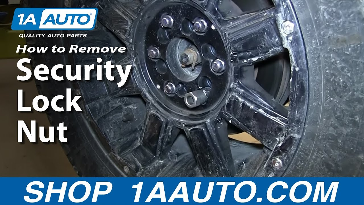 How To Remove A Security Lug Nut Without The Correct Key Youtube Opel Corsa Ignition Wiring Diagram