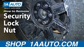 How To Remove a Security Lock Nut without the correct Key