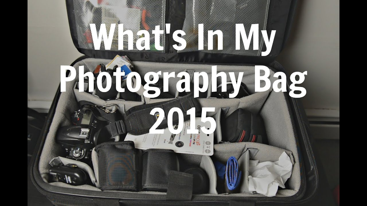 Whats in my photography camera bag youtube