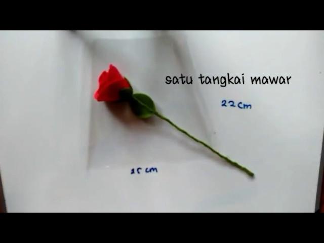 Wrapping single rose   Cara membungkus bunga mawar flanel