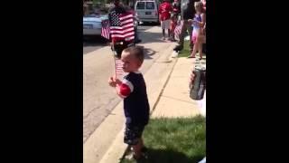 Baby Dancing to Blackhawks Theme Song