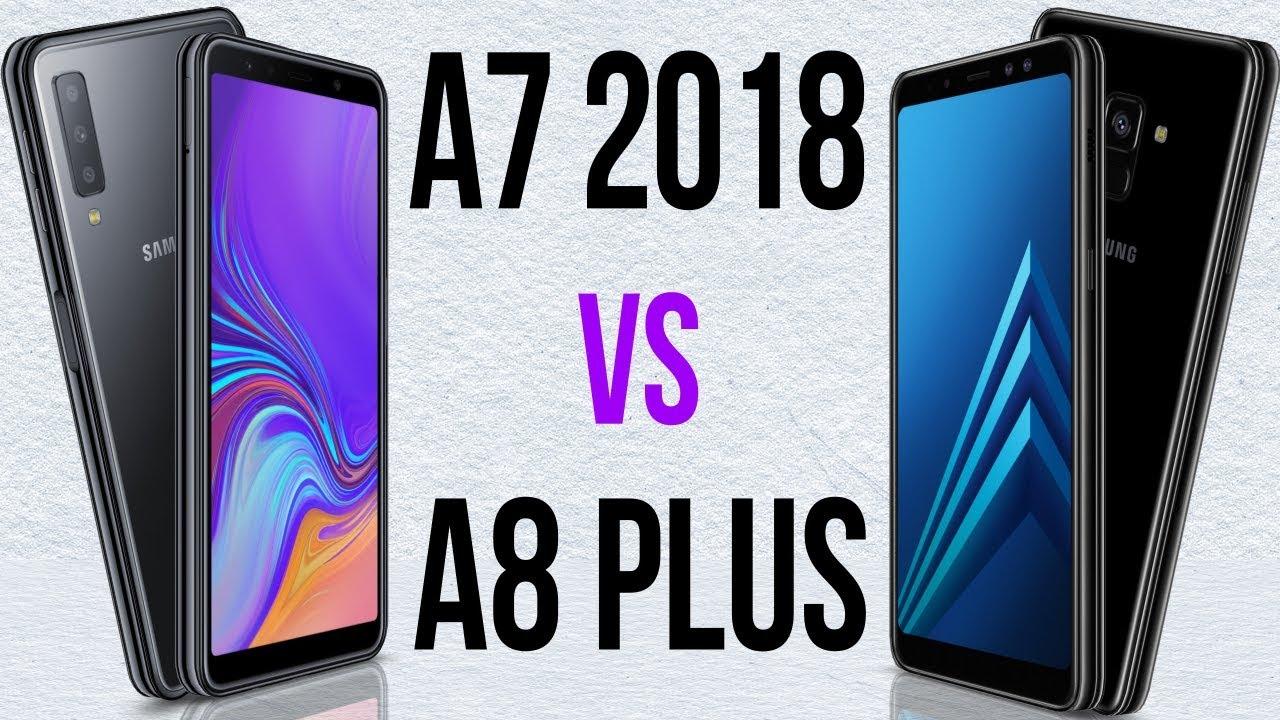 b1bddb08d8163 A7 2018 vs A8 Plus (Comparativo) - YouTube