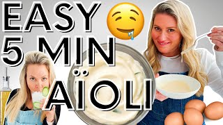 EASY & DELICIOUS 5-Minute Aioli | Cooking With Cocktails 🥂