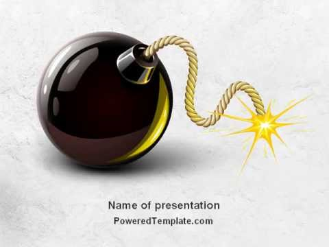 Free bomb with burning wick powerpoint template by poweredtemplate free bomb with burning wick powerpoint template by poweredtemplate toneelgroepblik Images