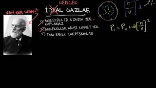 Gerçek Gazlar ve Van Der Waals Denklemi (Fizik)