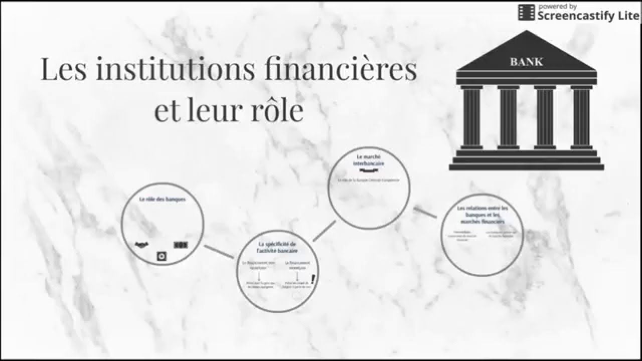 bts economie th4 chap3 les institutions financi 232 res et leur r 244 le