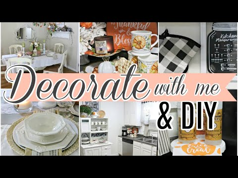 """🍁FALL DECORATE WITH ME 2019/ DIY & THRIFT STORE DECOR🍁 """"I LOVE FALL"""" ep 28 Olivia's Romantic Home"""