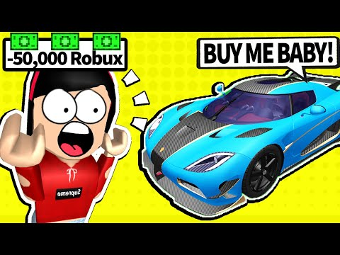 Spending All of my Robux in Roblox Vehicle Simulator...