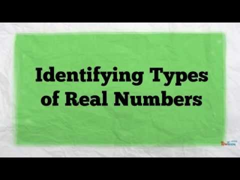 Identifying Types of Real Numbers