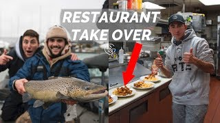 CATCH and COOK - TAKING over RANDOM Restaurant Kitchen!