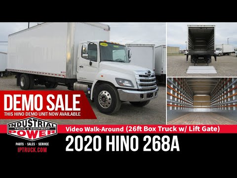 Box Truck For Sale - 2020 HINO 268A 26 Foot Box Truck W/ Lift Gate