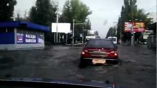 Саратов ул. 50 лет октября 2я дачная дождевой потоп 22.08.12