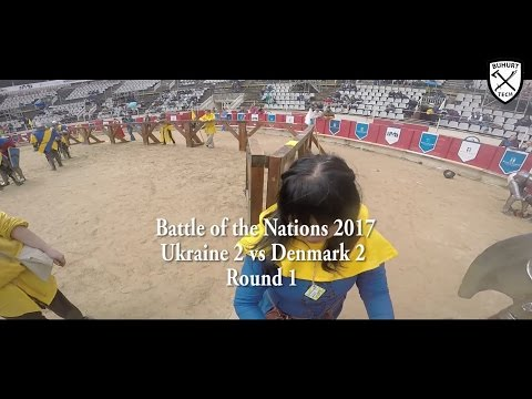 Battle of the Nations 2017 GoPro  Ukraine 2 vs Denmark 2 by BuhurtTech