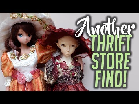 Dressing My Girls In Porcelain Doll Outfits [Thrift Store Find]