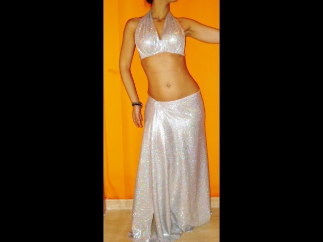 DIY traje lycra danza oriental - Belly dance lycra costume Travel Video