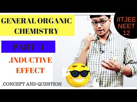 GENERAL ORGANIC CHEMISTRY !INDUCTIVE EFFECT ! PART1 ! JEE! NEET!AIIMS!11th!12th