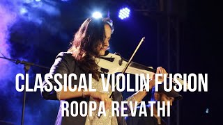Classical Violin Fusion - Violin, Drums, Guitar, Tabala and Thappu by Roopa Revathi band at TCC