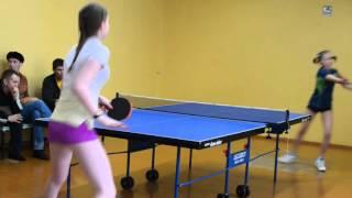 Турнир по настольному теннису среди девочек в Комсомольске-на-Амуре