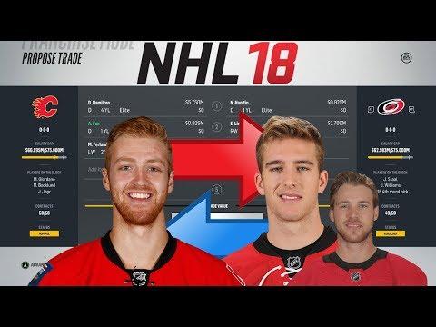 NHL 18 - HAMILTON FOR HANIFIN TRADE SIMULATION