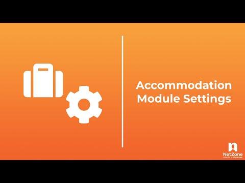 NetZone CMS 101: Accommodation Module Settings
